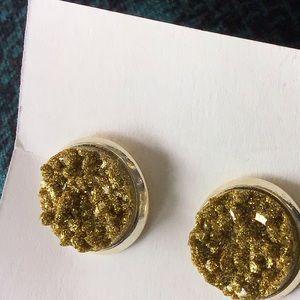 Money Green studded Earrings!